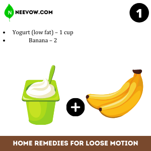 ogurt & Banana – Loose Motion Home Remedies: