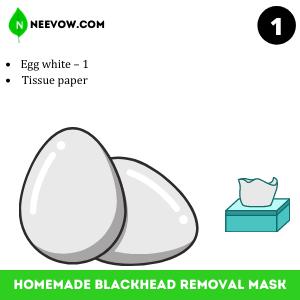 Egg white Homemade Blackhead Removal Mask