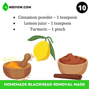 Cinnamon Homemade Blackhead Removal Mask