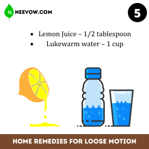 Lemon water – Best Home Remedies for Loose Motion