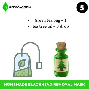 Green Tea Homemade Blackhead Removal Mask