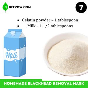 Gelatin Homemade Blackhead Removal Mask