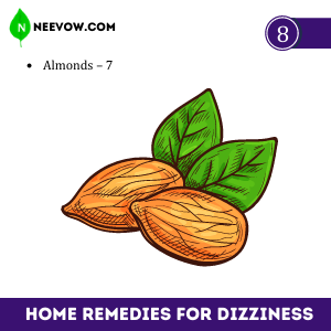Almonds and Dizziness