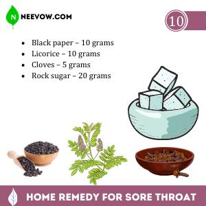 Ayurvedic Home Remedy for Sore Throat