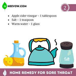 Best Home Remedies for Sore Throat – Apple Cider Vinegar