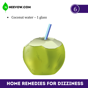 Coconut For Dizziness