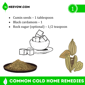 Common Cold Home Remedies Cumin Seeds & Black Cardamom