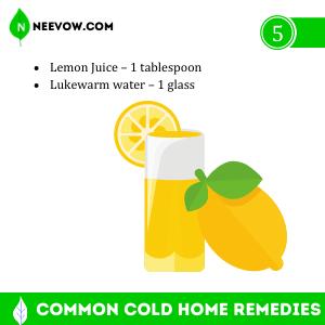 Common Cold Home Remedies Lemon