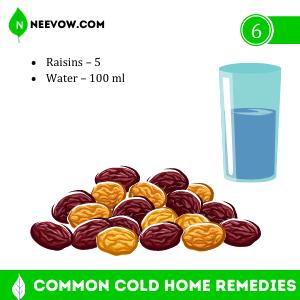 Common Cold Home Remedies Raisins