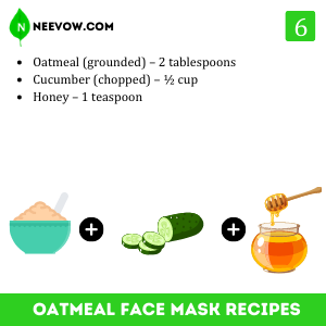 Cucumber And Oatmeal Face Mask Recipe