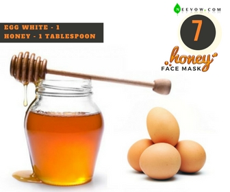 Egg White & Honey Face Mask