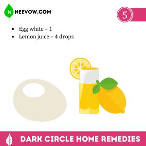 Egg White & Lemon Mask – The Dark Circle