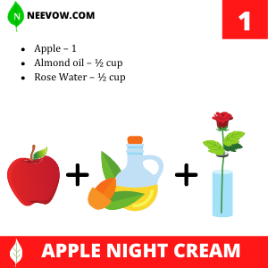 Homemade Apple Night Cream