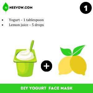 Lemon And Yogurt Face Mask Recipe For Skin Lightning