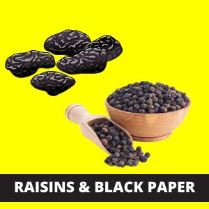 RAISINS & BLACK PAPER