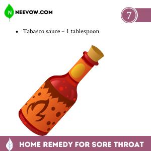 Sore Throat – Tabasco Sauce