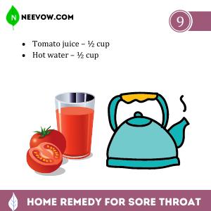 Sore Throat – Tomato Juice