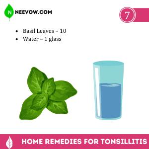 Tonsillitis Basil Leaves