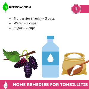 Tonsillitis Mulberry Syrup
