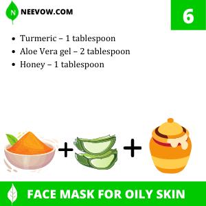Turmeric And Aloe Vera Gel Homemade Face Mask For Oily Skin