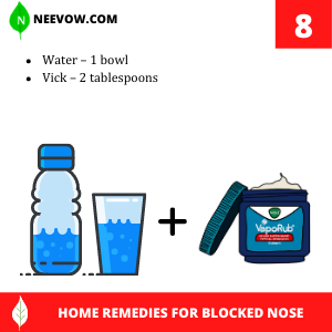 Vick – Home Remedies For Blocked Nose At Night
