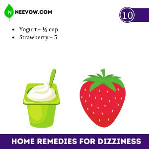 Yogurt & Strawberry For Dizziness